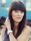 Photo of beautiful  woman Aleksandra with black hair and grey eyes - 21112