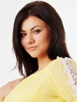 Photo of beautiful Ukraine  Alina with black hair and brown eyes - 28485