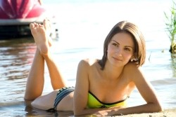 Photo of beautiful Ukraine  Anastasia with brown hair and hazel eyes - 22129