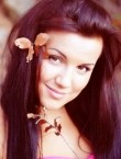 Photo of beautiful  woman Anna with black hair and green eyes - 21279