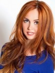 Photo of beautiful  woman Anna with red hair and green eyes - 22016