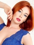 Photo of beautiful  woman Anna with red hair and blue eyes - 28473