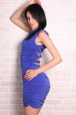 Photo of beautiful Ukraine  Elena with black hair and blue eyes - 18166