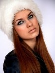 Photo of beautiful  woman Inga with red hair and green eyes - 20336