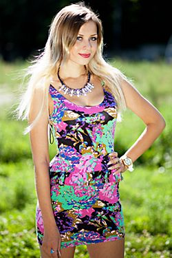 Photo of beautiful Ukraine  Ivanna with blonde hair and blue eyes - 17965