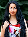 Photo of beautiful  woman Julia with black hair and brown eyes - 12314