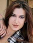 Photo of beautiful  woman Kateryna with brown hair and hazel eyes - 20421