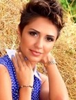 Photo of beautiful  woman Kristina with light-brown hair and brown eyes - 21848