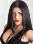 Photo of beautiful  woman Nadezhda with black hair and green eyes - 27999