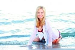 Photo of beautiful Ukraine  Natalya with blonde hair and hazel eyes - 21750