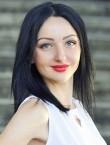 Photo of beautiful  woman Oksana with black hair and blue eyes - 28541