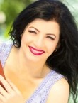 Photo of beautiful  woman Olena with black hair and green eyes - 22324