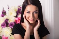 Photo of beautiful Ukraine  Olga with black hair and blue eyes - 20664