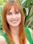 Photo of beautiful  woman Valeria with red hair and grey eyes - 21552