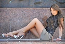 Photo of beautiful Ukraine  Victoria with black hair and blue eyes - 21026