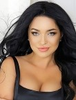 Photo of beautiful  woman Victoria with black hair and blue eyes - 28736