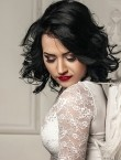 Photo of beautiful  woman Viktoria with black hair and blue eyes - 28027